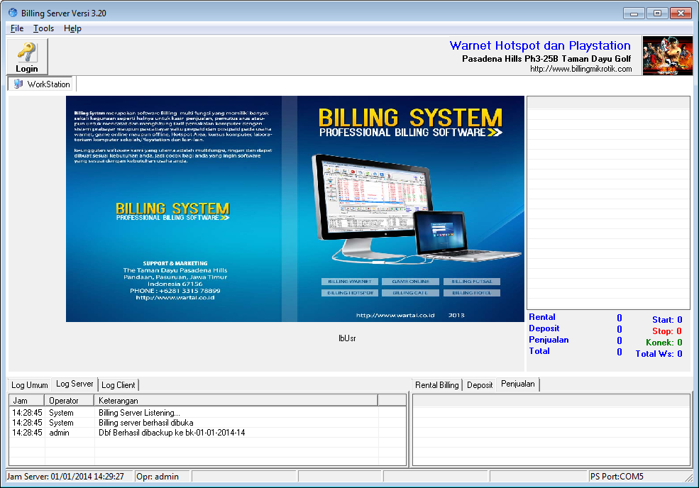 Program Billing Warnet Hotspot Versi 2014